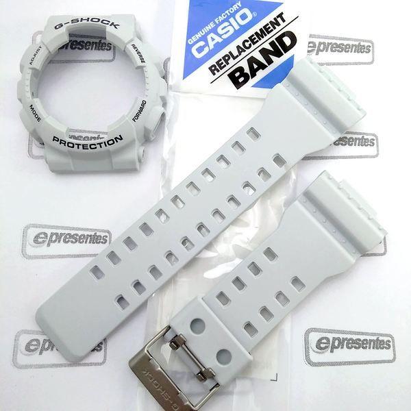 Pulseira + Bezel GA-100LG-8A Casio G-shock Cinza Claro Fosco  - E-Presentes