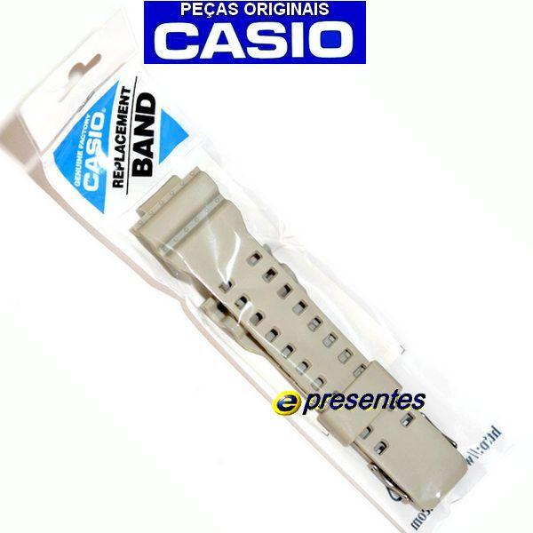 Pulseira + Bezel Ga-100SD-8A Casio G-shock Resina BEGE   - E-Presentes