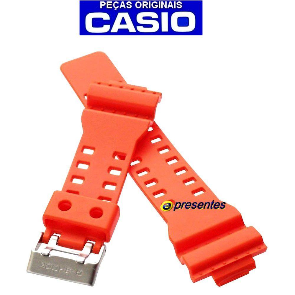 Pulseira GA-110MR-4A Casio G-shock Cor Laranja Fosco *  - E-Presentes