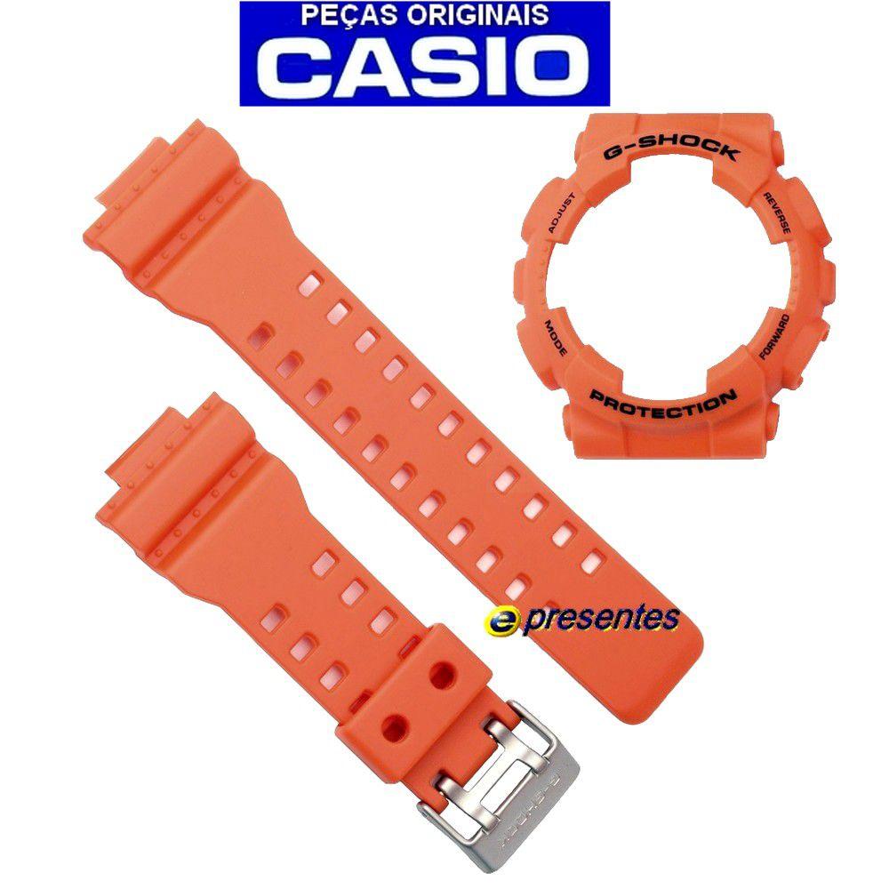 Pulseira + Bezel GA-110MR-4A Casio G-shock Cor Laranja Fosco - 100% ORIGINAL  - E-Presentes