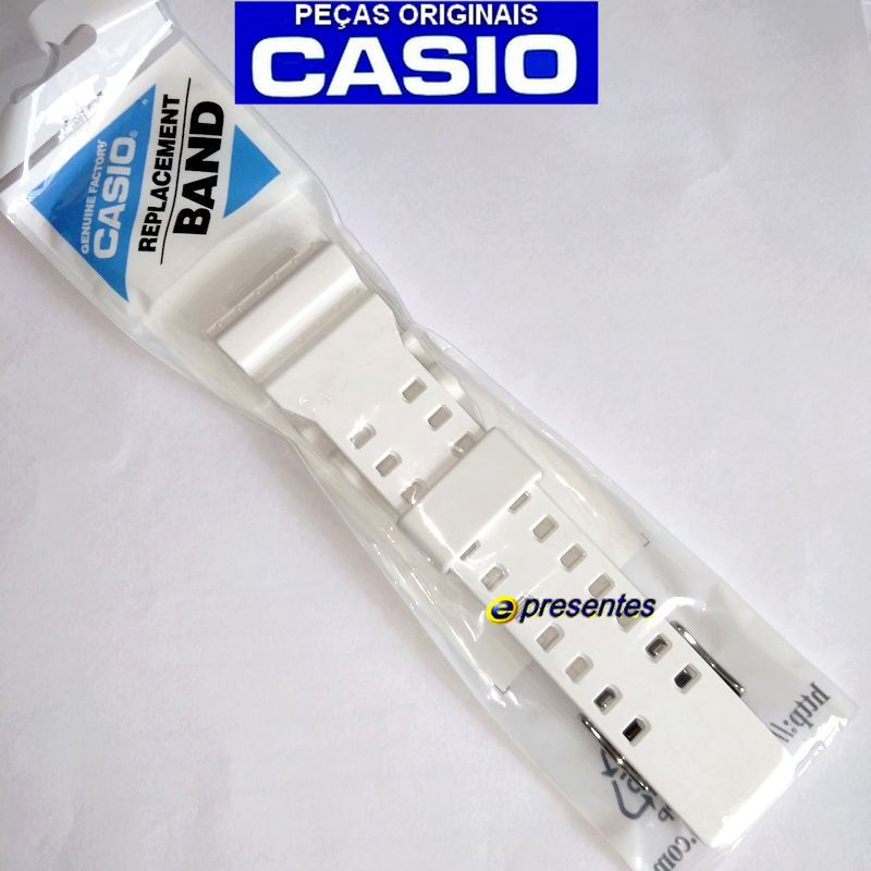 Pulseira + Bezel GA-110TR-7A Casio G-shock Branco Brilhante  - E-Presentes