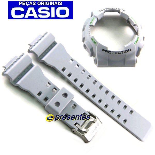 Pulseira + Bezel Ga-110TS-8A3 Casio G-Shock Cinza Claro   - E-Presentes