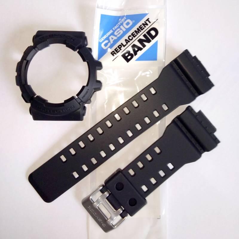 Pulseira + Bezel GAC-100-1a2 Casio G-Shock Preto Fosco  - E-Presentes