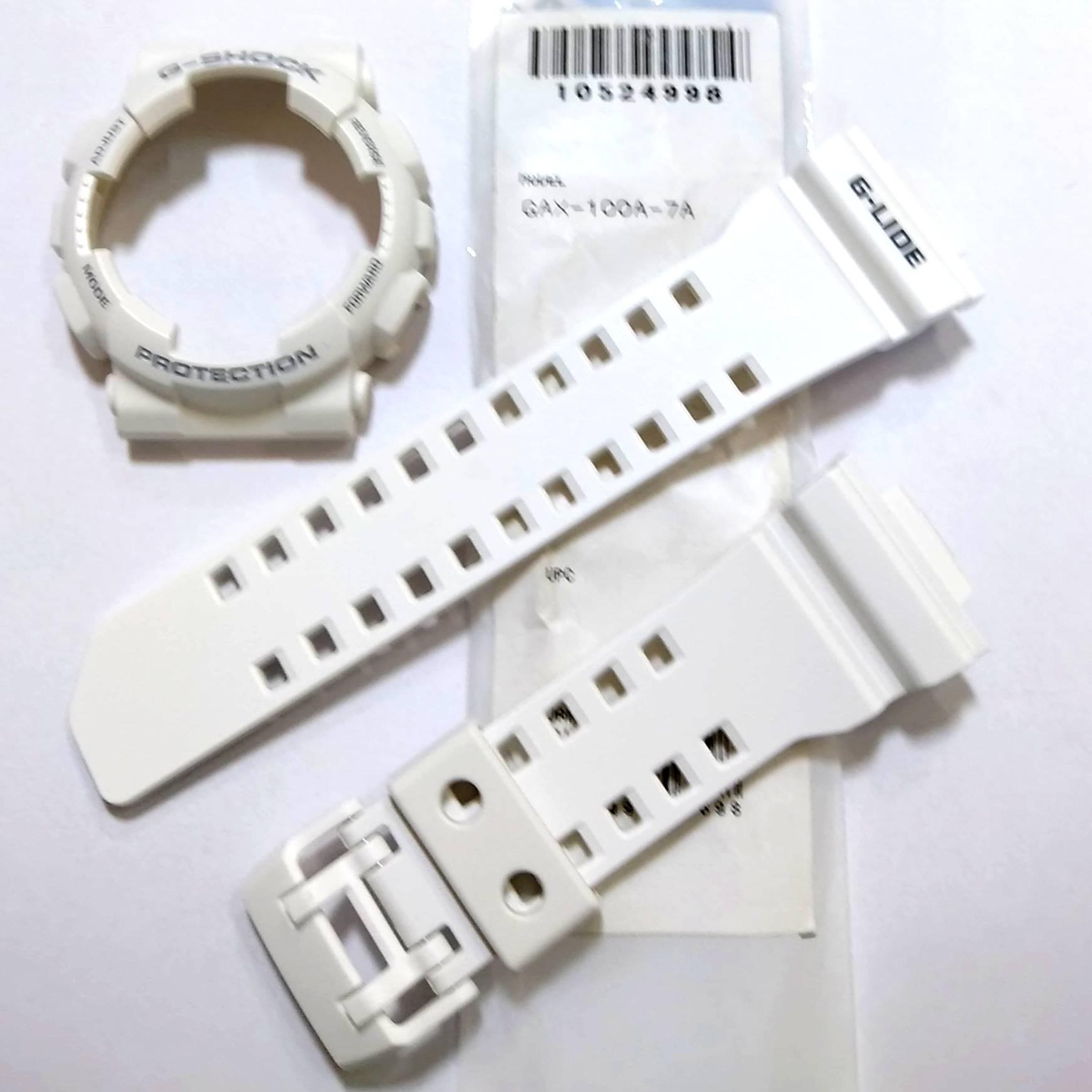 Pulseira + Bezel GAX-100A-7 Casio G-Shock Branco  - E-Presentes