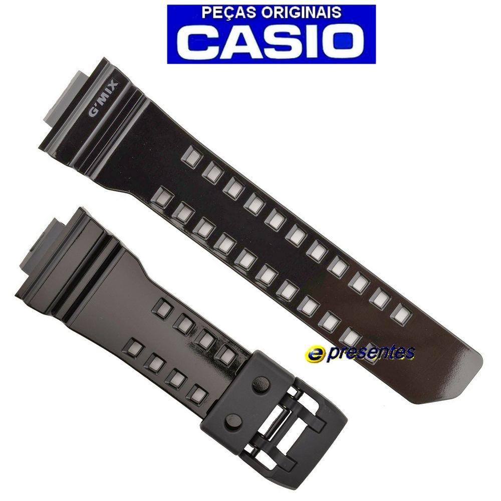 Pulseira + Bezel GBA-400-1A9 Preto Verniz Casio G-shock Mix   - E-Presentes