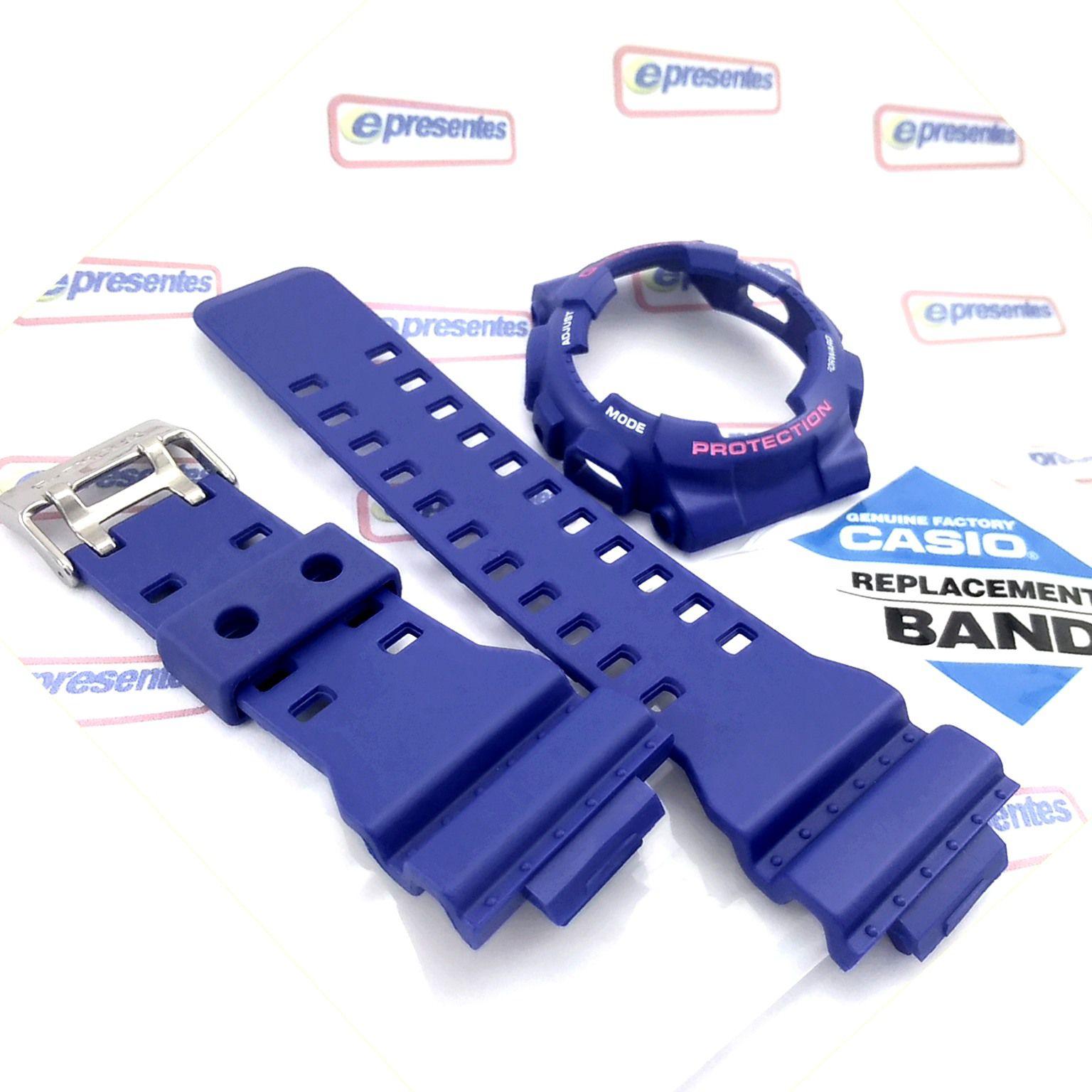 Pulseira + Bezel GD-120TS-2  Casio G-Shock Azul 100% Original  - E-Presentes