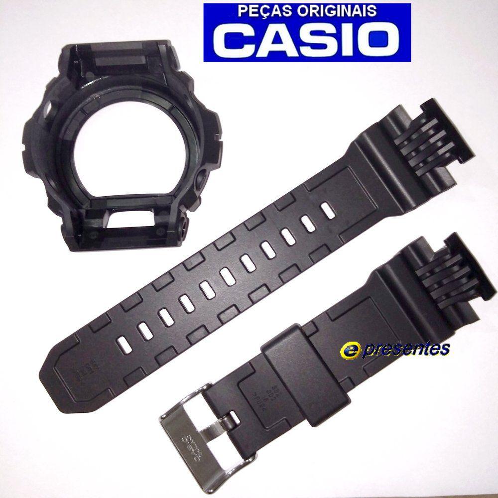 Pulseira + Bezel GD-X6900-7 Casio G-shock Resina Preto Fosco  - E-Presentes