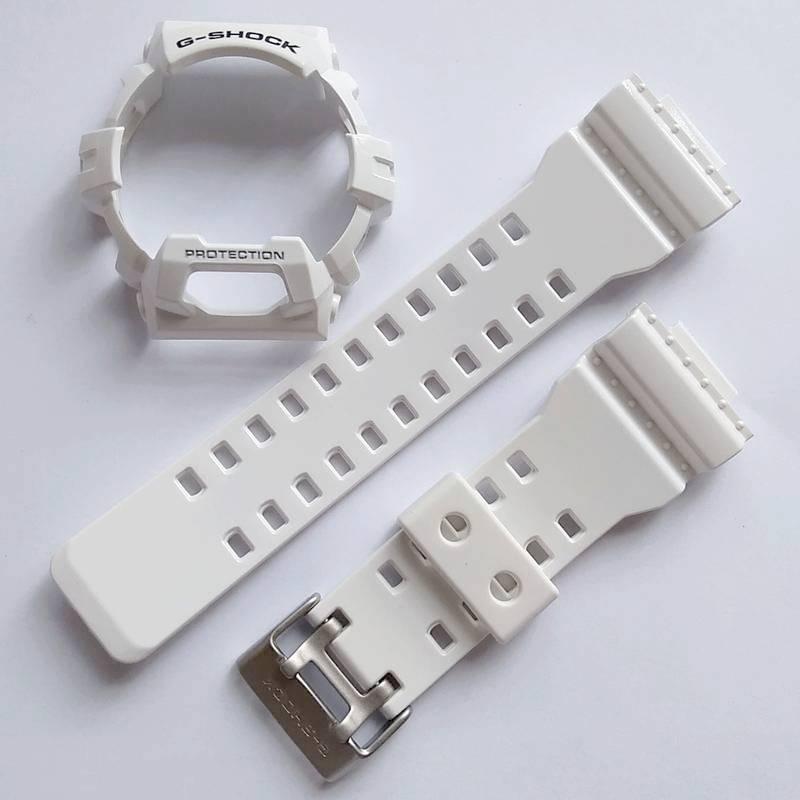 Pulseira + Bezel  GR-8900A-7 GW-8900A-7 Casio G-shock Branco Brilhante  - E-Presentes