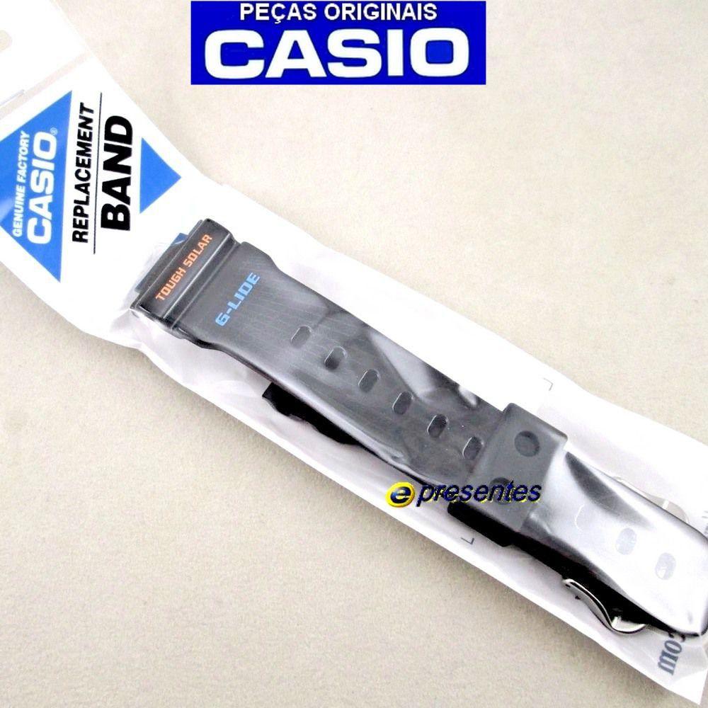 Pulseira + Bezel GWX-5600-1 Casio G-shock G-lide Preto Brilhante Verniz  - E-Presentes