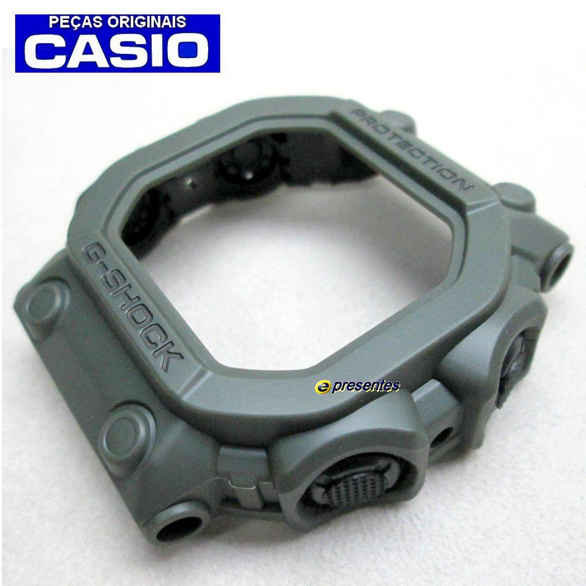 Pulseira + Bezel GX-56kg-3  GWX-56kg-3 Casio G-Shock Verde Militar Fosco  - E-Presentes