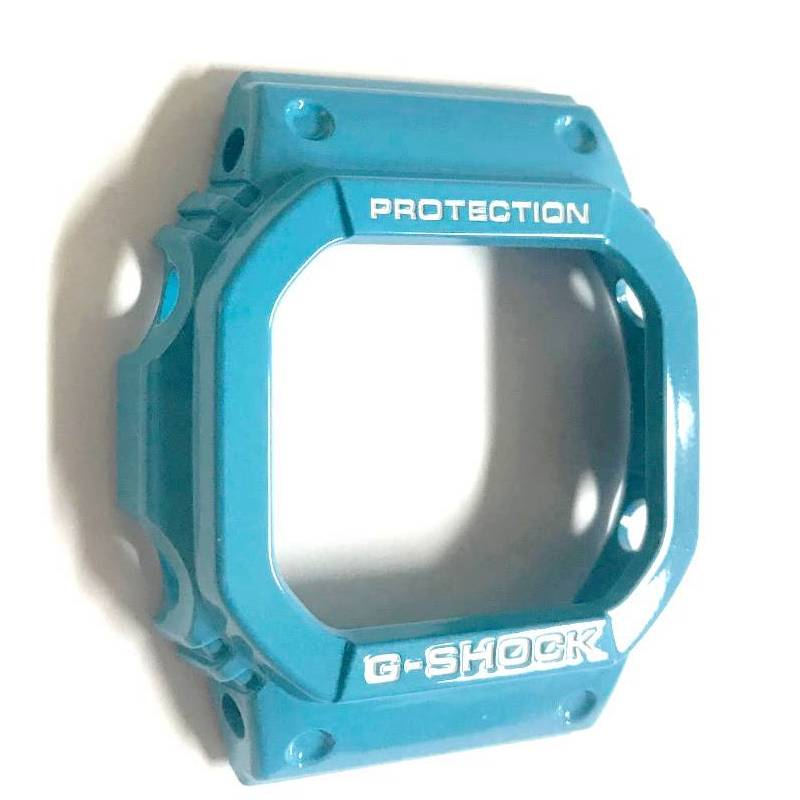 Pulseira + Bezel Originais Casio G-shock GLX-5600a-2 Azul Claro Verniz  - E-Presentes
