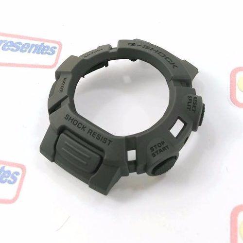 Pulseira + Bezel Originais G-9000-3 Casio GShock Mudman Verde  - E-Presentes