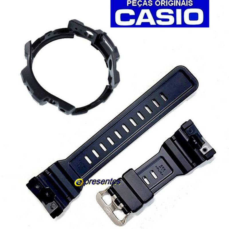 Pulseira + Bezel Originais GN-1000 Casio G-shock Preto Fosco  - E-Presentes