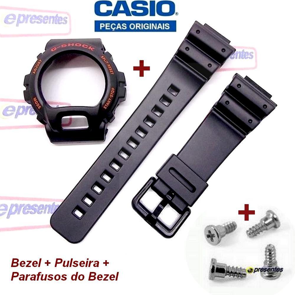Pulseira + Bezel + Parafusos DW-6900G Casio G-Shock Serie Ouro - Peças 100% Originais  - E-Presentes
