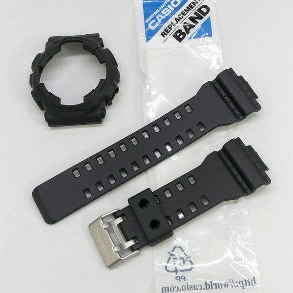 Pulseira + Bezel Preto Fosco Casio G-Shock GA-100-1A1, GA-100C-1A, GA-110MB-1A, GD-101NS-1, GA-120BB-1A, GA-100BBN-1A , GD-120MB-1  - E-Presentes