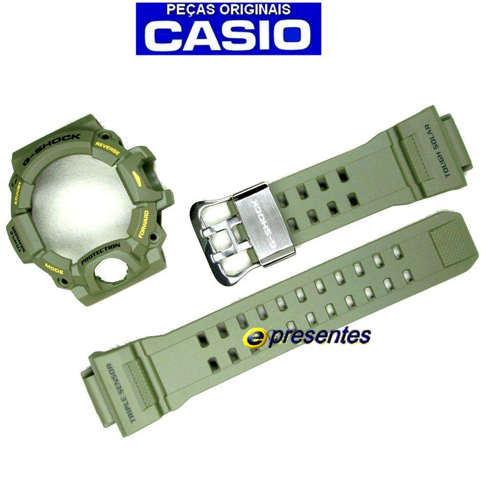 Pulseira + Bezel Verde Casio G-shock Rangeman Gw-9400-3  - E-Presentes