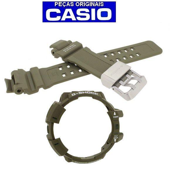 Pulseira + Bezel Verdes GW-a1100 Casio G-shock GravityMaster  - E-Presentes