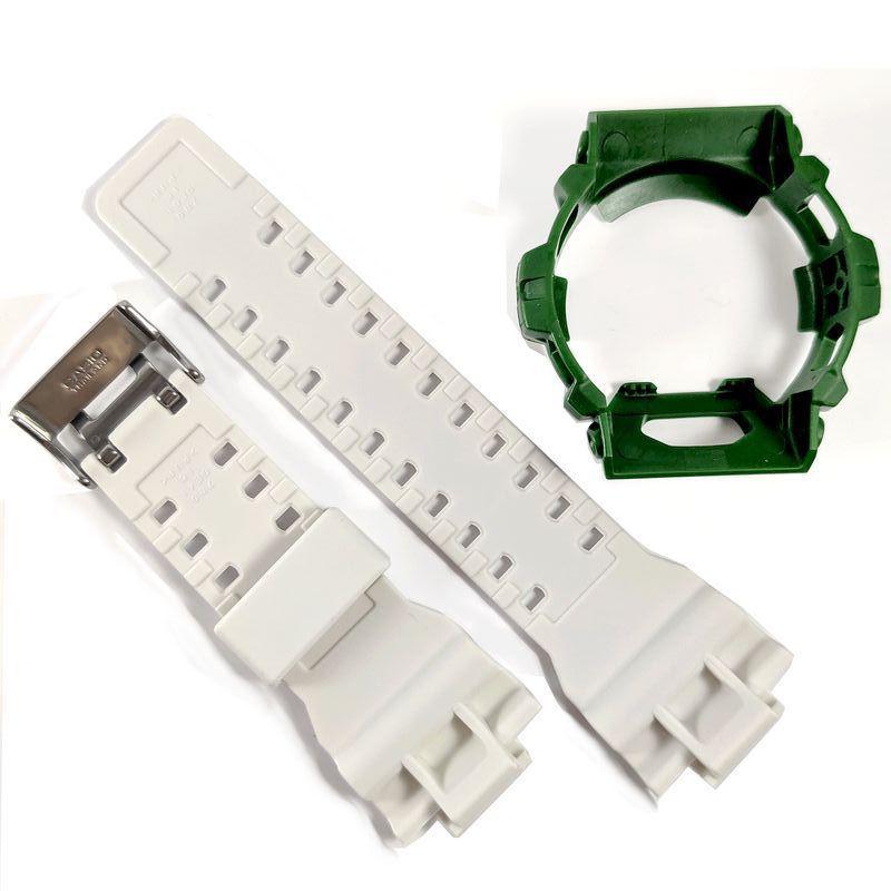 Pulseira Branca + Bezel Verde G-8900cs-3 Casio G-shock  - E-Presentes