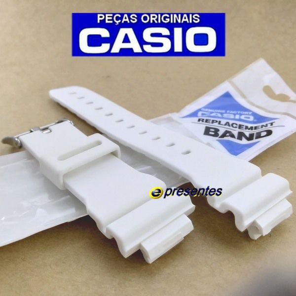 Pulseira Branco Fosco Casio G-shock DW-5600FS-7, DW-6900MR-7, DW-6900SN-7, DW-6900WW-7, G-5600A-7, G-6900A-7, GW-M5600A-7, GW-6900A-7 *  - E-Presentes
