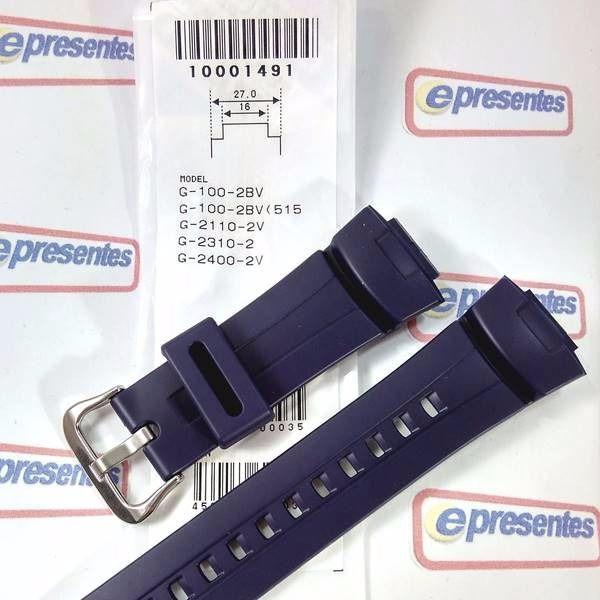 Pulseira + Capa Bezel Casio G-shock G-100-2bv Azul Original  - E-Presentes