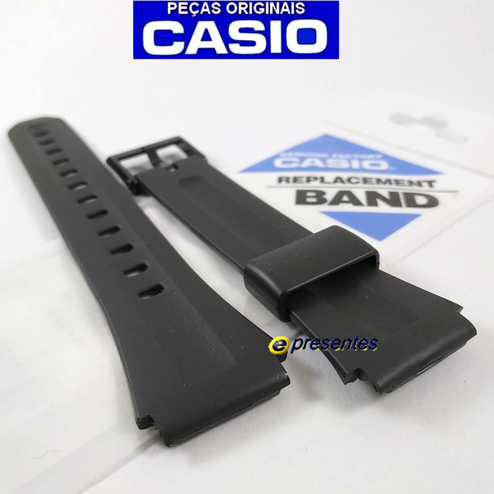 Pulseira Casio 100% Original F-201w F-201wa - Resina Preta  - E-Presentes