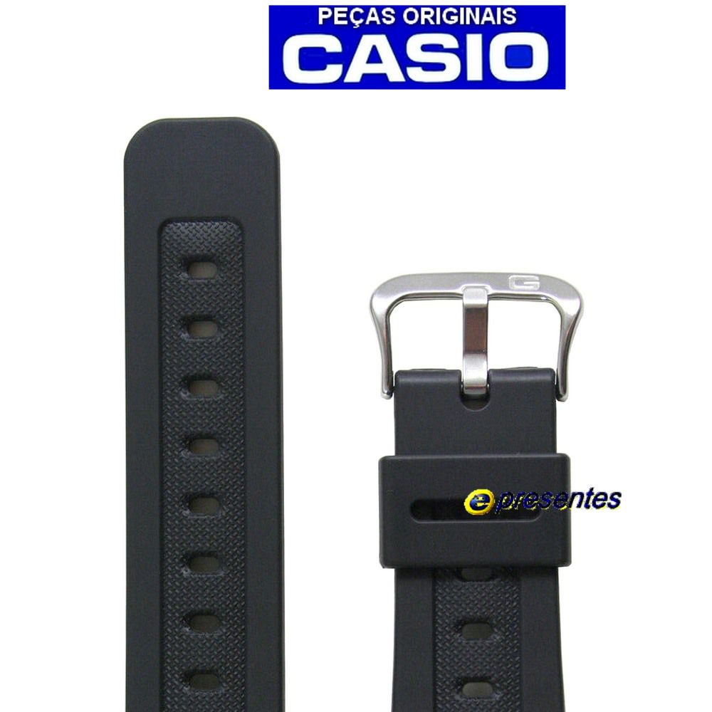 Pulseira Casio 100% Original GW-5600J-1  (16mm) Resina Preta  - E-Presentes