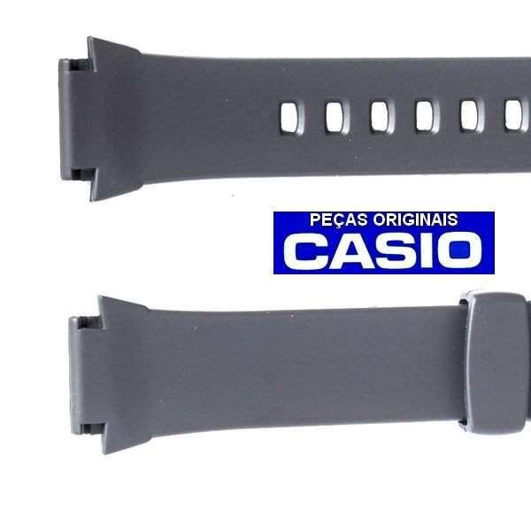 Pulseira Casio 100%original Resina Preta W-756-1a *  - E-Presentes