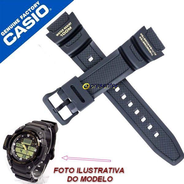 Pulseira Casio 100% Original Sgw-400H-1B2V Resina Preta  - E-Presentes