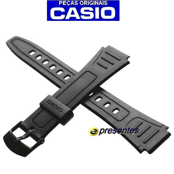 Pulseira Casio 100% Original - W-800h / W-800hg Resina Preta  - E-Presentes