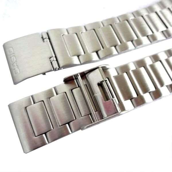 Pulseira Casio Aço Inox Fecho deslizante A158wa A163wa A164 A166 A167  - E-Presentes