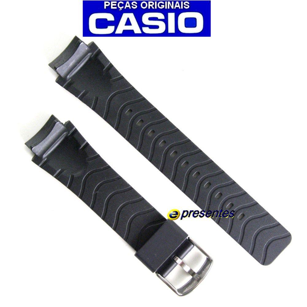Pulseira Casio AMW-701 Resina Preta - 100% original  - E-Presentes