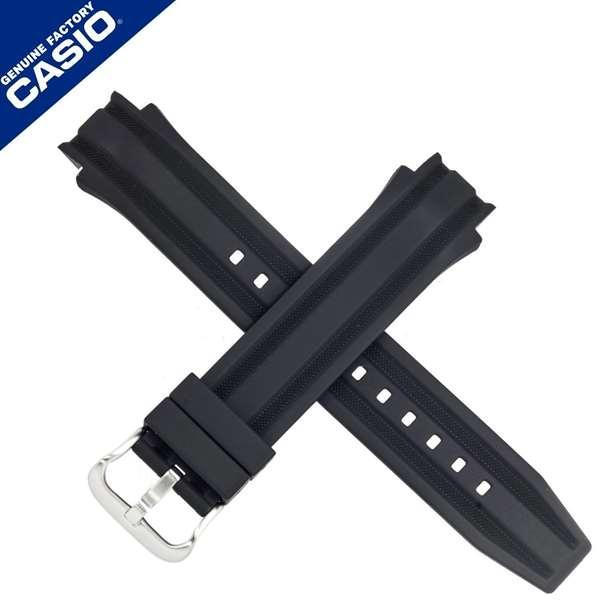 Pulseira Casio AMW-702 Fishing Gear Resina Preta - 100% original  - E-Presentes