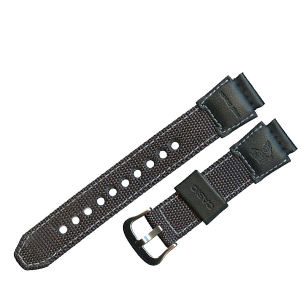 Pulseira Casio AMW-702B-7 Fishing Gear Tecido e Couro - 100% original  - E-Presentes
