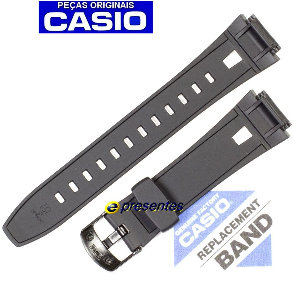 Pulseira Casio AQ-190w-1a Resina Preta - 100% Original  - E-Presentes