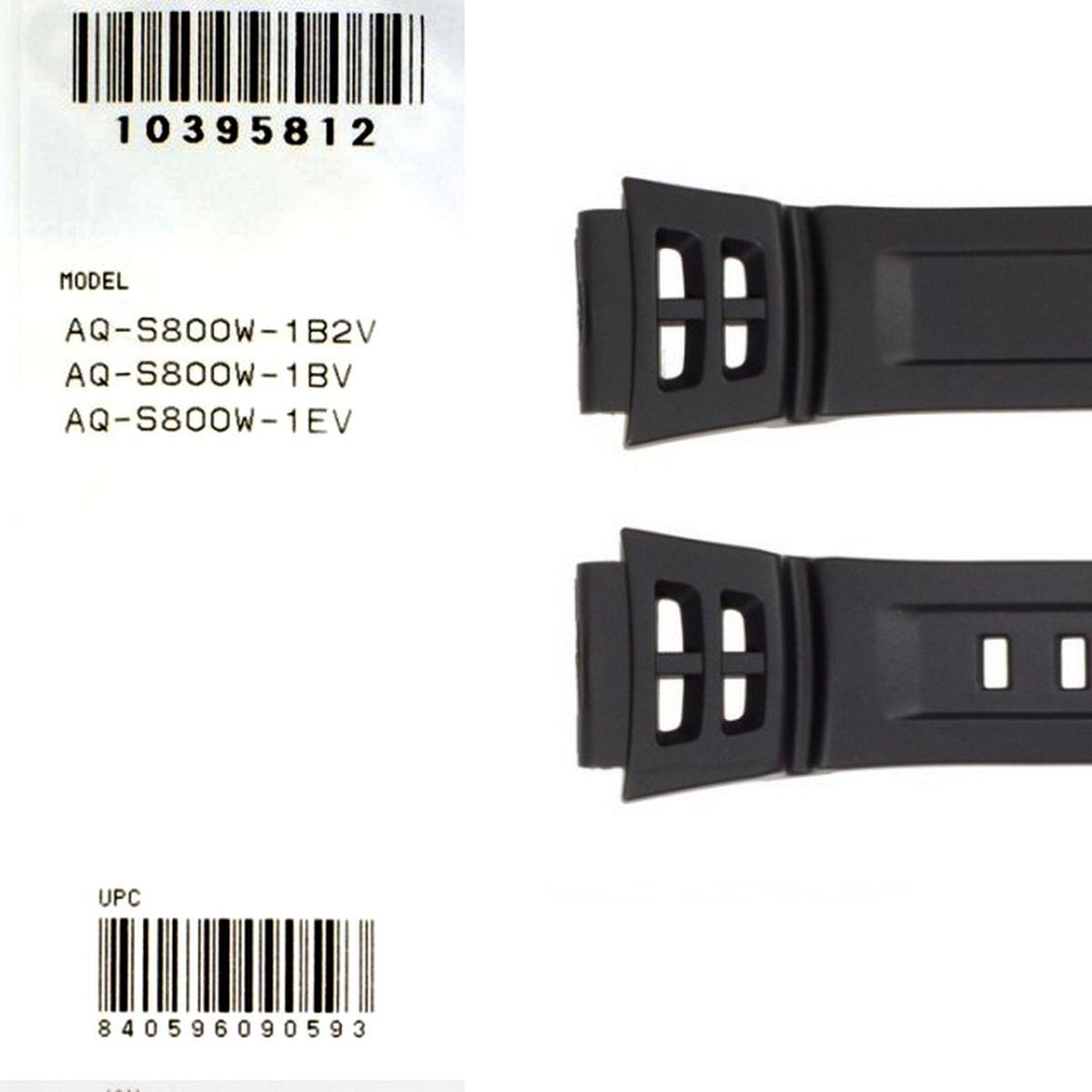 Pulseira Original Casio  AQ-S800W Resina Preta  - E-Presentes