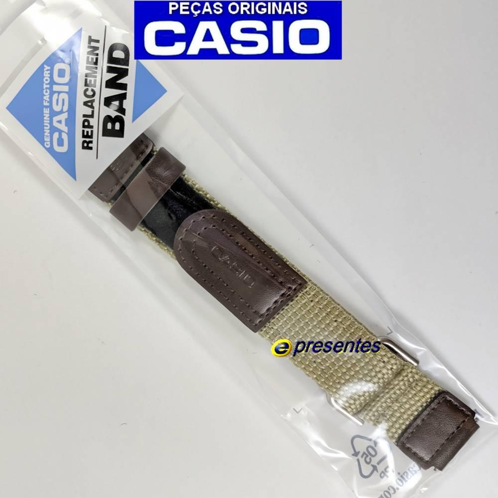 Pulseira Casio Aw-80v-5 Tecido Couro Nylon -100% Original  - E-Presentes