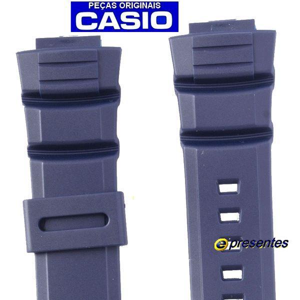 Pulseira Casio Azul W-S220-2AV - 100% Original * 26/16mm  - E-Presentes