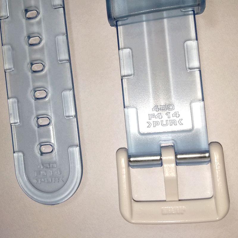 Pulseira Casio Baby-G Original  BG-169R-2, BG-169A-2V Resina Cristal Transparente Azul Claro (14mm/23mm)  - E-Presentes