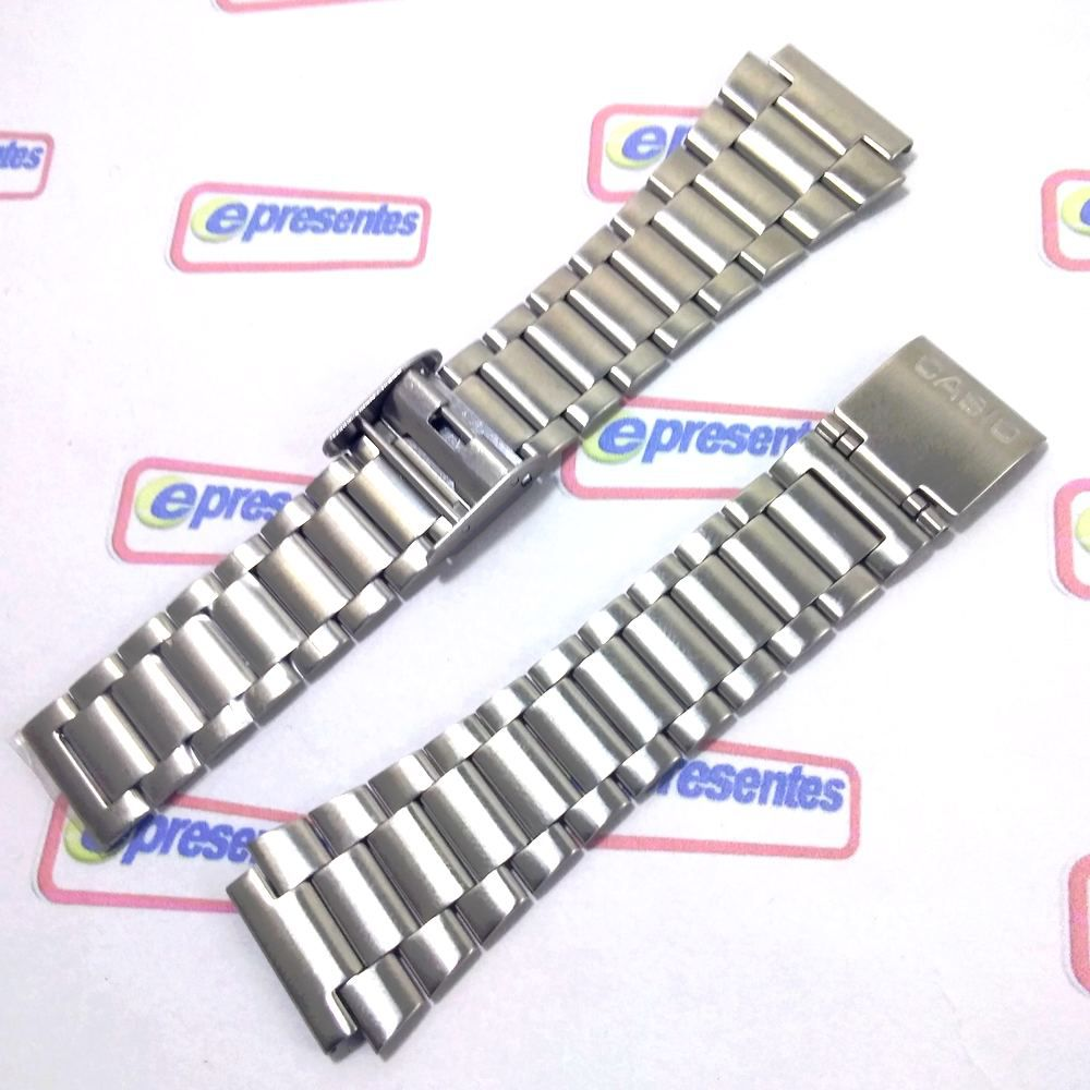 Pulseira Casio DB-360-1A DB-360N-1 aço Inox Fecho deslizante   - E-Presentes