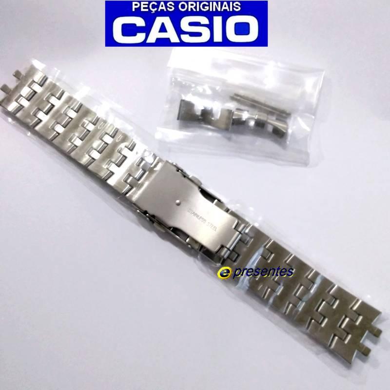 Pulseira Casio Edifice  EF-558D Aço Inox  - E-Presentes