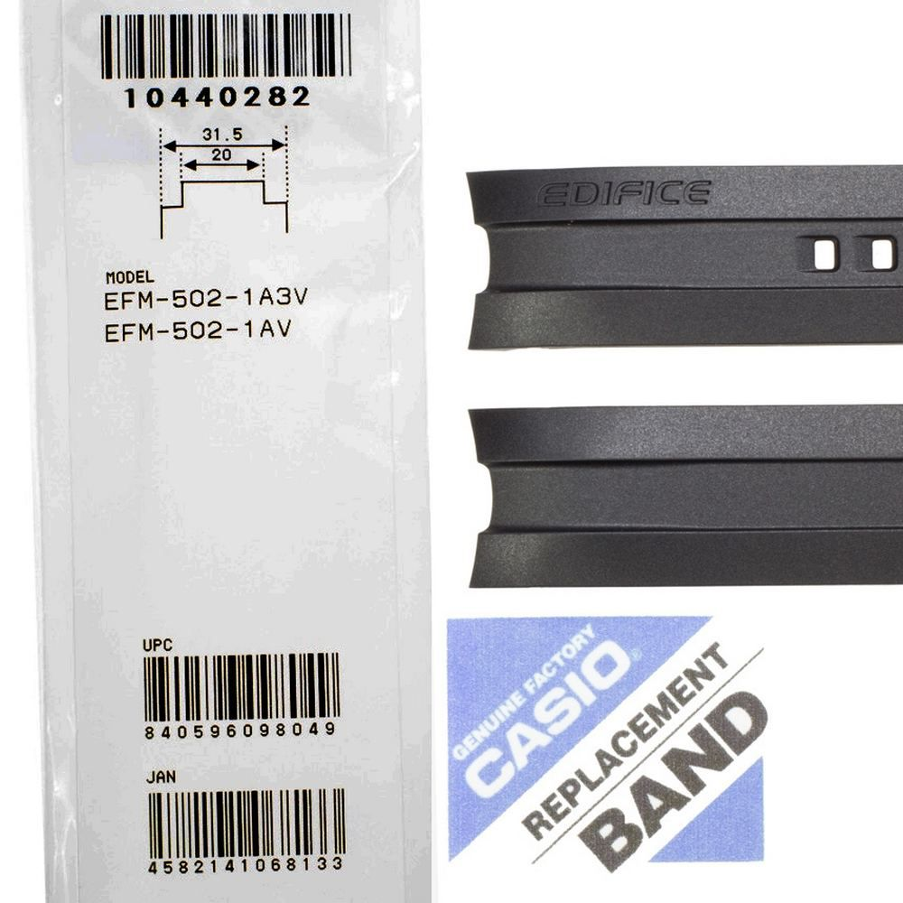 Pulseira Casio Edifice EFM-502 Resina Preta  - E-Presentes