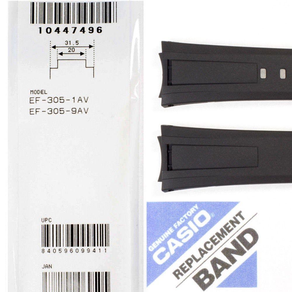 Pulseira Casio EF-305 Reina Preta * 100% Original   - E-Presentes