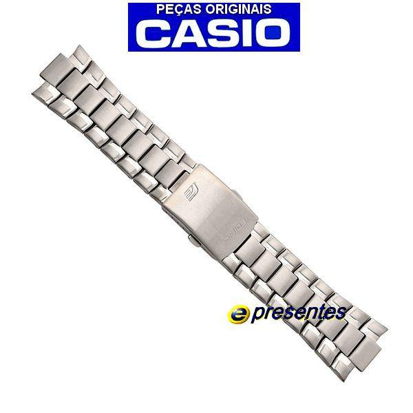 Pulseira Casio EF-329D-1AV Edifice Aço Inox  - E-Presentes