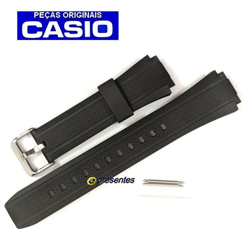 Pulseira Casio EF-552, EF-552PB Resina Preta (borracha) -  100% Original  - E-Presentes