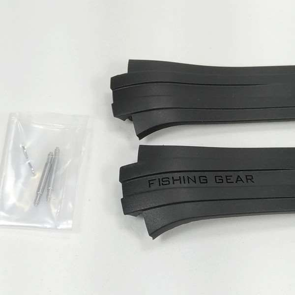 Pulseira Casio Fishing Gear Resina Preta AMW-700 100% original  - E-Presentes