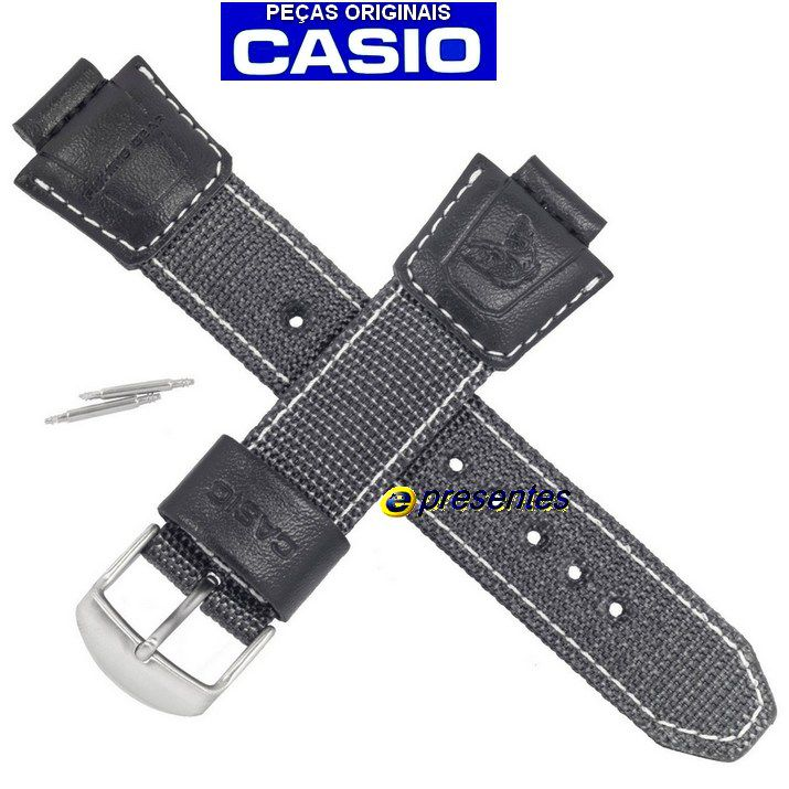 Pulseira Casio Tecido Nylon AMW-700B Fishing Gear - 100% original  - E-Presentes