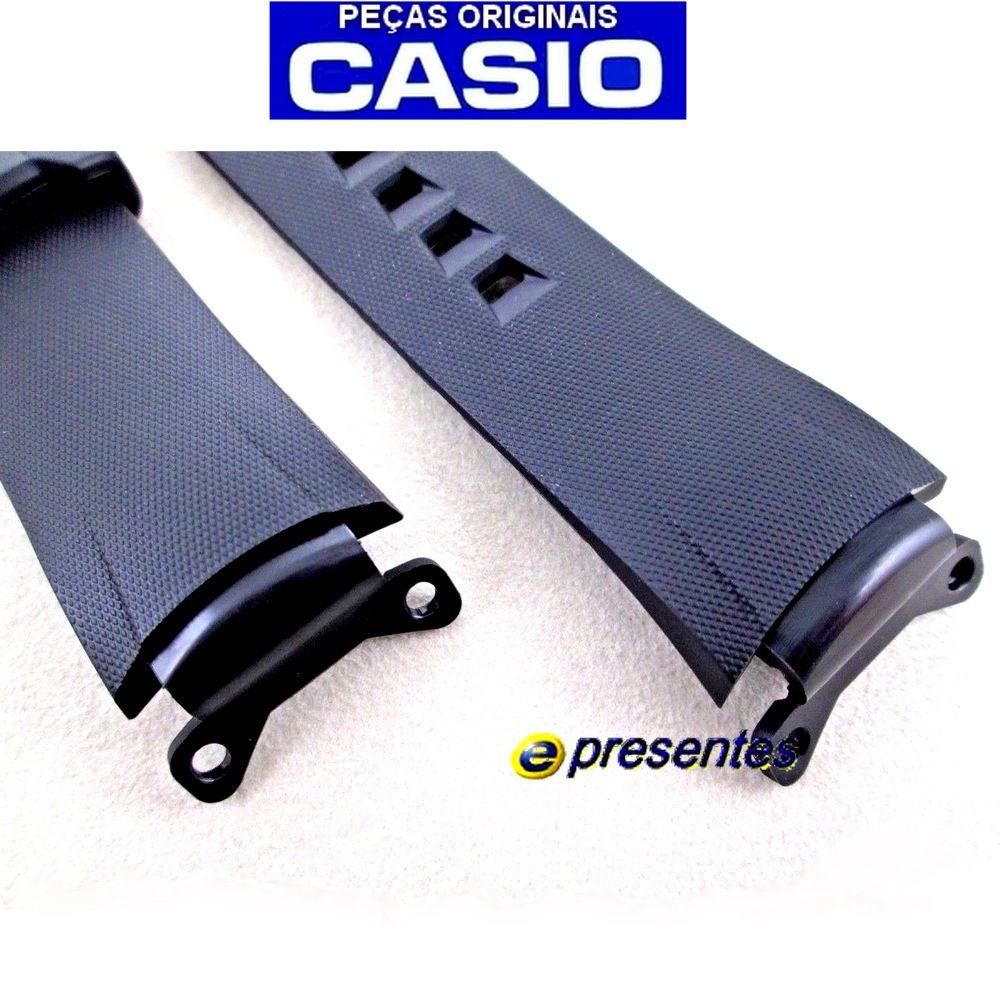 Pulseira Casio  G-7100 Resina preta - 100% Original   - E-Presentes