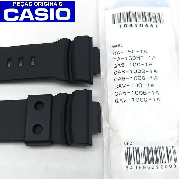 Pulseira Casio G-Shock Preto Fosco GAW-100 Ga-150-1A Ga-150mf GAS-100  - 100% Original   - E-Presentes