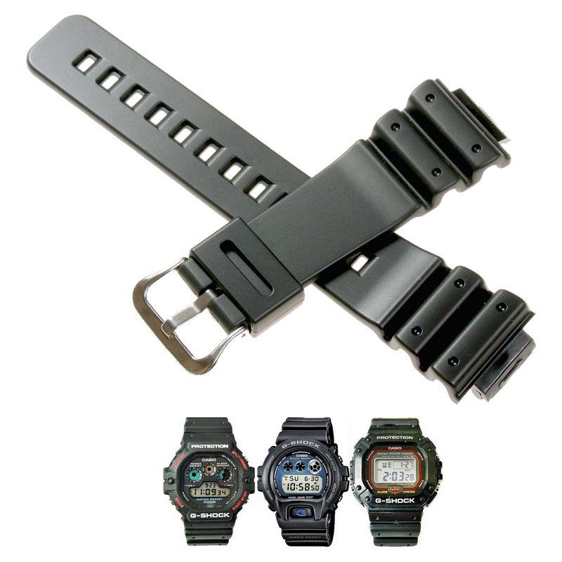 Pulseira Casio G-shock 16MM Dw-5300 Dw-5900 DW-56RTB DW-6000 DW-6100 DW-6200 DW-6500 DW-6600 DW-6695 DW-6700 DW-6800 DW-6900 DW-6900FS DW-8700  G-6900-1  - E-Presentes