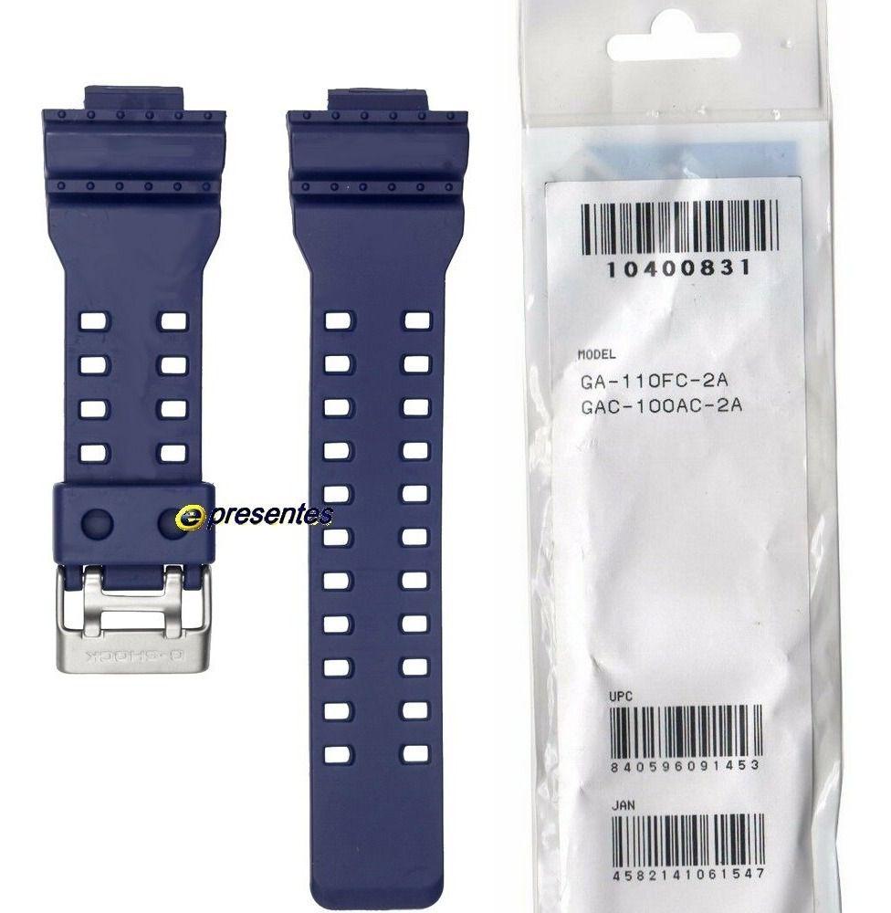Pulseira Casio G-Shock AZUL GA-110FC-2A / GAC-100AC-2A 100% Original  - E-Presentes